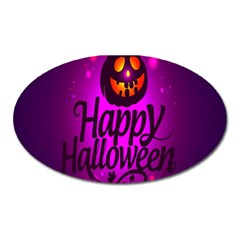 Happy Ghost Halloween Oval Magnet