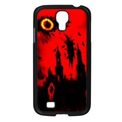 Big Eye Fire Black Red Night Crow Bird Ghost Halloween Samsung Galaxy S4 I9500/ I9505 Case (black)
