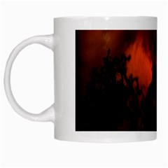 Halloween Pumpkins Tree Night Black Eye Jungle Moon White Mugs