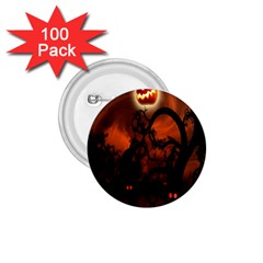 Halloween Pumpkins Tree Night Black Eye Jungle Moon 1 75  Buttons (100 Pack)