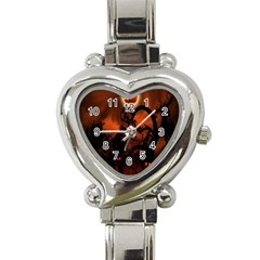 Halloween Pumpkins Tree Night Black Eye Jungle Moon Heart Italian Charm Watch