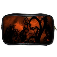 Halloween Pumpkins Tree Night Black Eye Jungle Moon Toiletries Bags