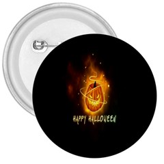 Happy Halloween Pumpkins Face Smile Face Ghost Night 3  Buttons