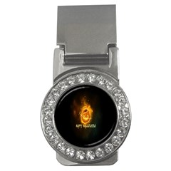 Happy Halloween Pumpkins Face Smile Face Ghost Night Money Clips (cz)