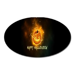Happy Halloween Pumpkins Face Smile Face Ghost Night Oval Magnet