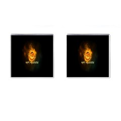 Happy Halloween Pumpkins Face Smile Face Ghost Night Cufflinks (square)