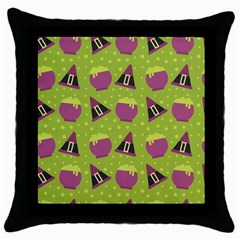 Hat Formula Purple Green Polka Dots Throw Pillow Case (black)