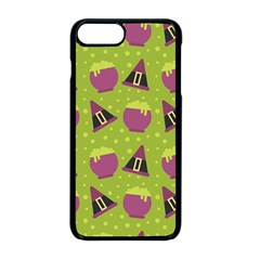 Hat Formula Purple Green Polka Dots Apple Iphone 8 Plus Seamless Case (black)