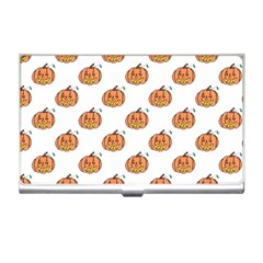 Face Mask Ghost Halloween Pumpkin Pattern Business Card Holders