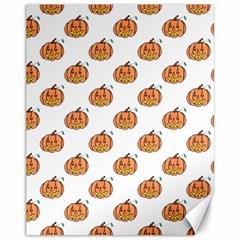 Face Mask Ghost Halloween Pumpkin Pattern Canvas 11  X 14