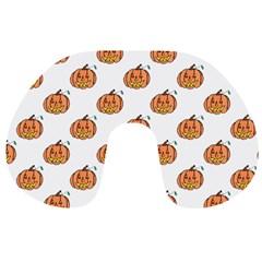 Face Mask Ghost Halloween Pumpkin Pattern Travel Neck Pillows