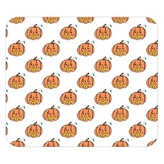 Face Mask Ghost Halloween Pumpkin Pattern Double Sided Flano Blanket (small)