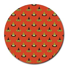 Hat Wicked Witch Ghost Halloween Red Green Black Round Mousepads