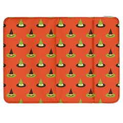 Hat Wicked Witch Ghost Halloween Red Green Black Samsung Galaxy Tab 7  P1000 Flip Case