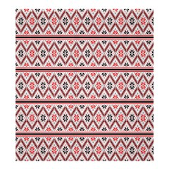 Red Flower Star Patterned Shower Curtain 66  X 72  (large)