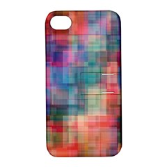Rainbow Prism Plaid  Apple Iphone 4/4s Hardshell Case With Stand