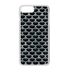 Scales3 Black Marble & Ice Crystals (r) Apple Iphone 8 Plus Seamless Case (white)