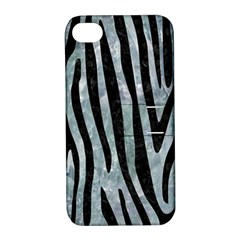 Skin4 Black Marble & Ice Crystals (r) Apple Iphone 4/4s Hardshell Case With Stand