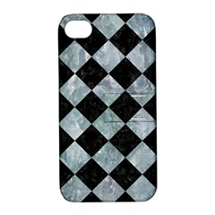 Square2 Black Marble & Ice Crystals Apple Iphone 4/4s Hardshell Case With Stand