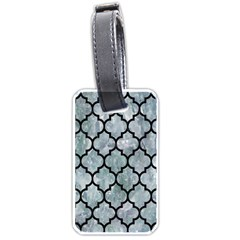 Tile1 Black Marble & Ice Crystals Luggage Tags (two Sides)