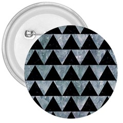 Triangle2 Black Marble & Ice Crystals 3  Buttons