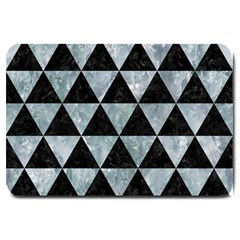 Triangle3 Black Marble & Ice Crystals Large Doormat