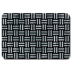 Woven1 Black Marble & Ice Crystals (r) Large Doormat