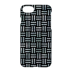 Woven1 Black Marble & Ice Crystals (r) Apple Iphone 8 Hardshell Case