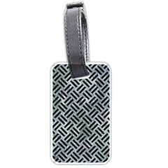 Woven2 Black Marble & Ice Crystals Luggage Tags (two Sides)