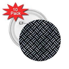 Woven2 Black Marble & Ice Crystals (r) 2 25  Buttons (10 Pack)