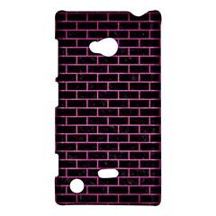 Brick1 Black Marble & Pink Brushed Metal (r) Nokia Lumia 720