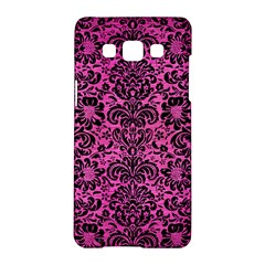 Damask2 Black Marble & Pink Brushed Metal Samsung Galaxy A5 Hardshell Case