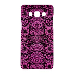 Damask2 Black Marble & Pink Brushed Metal (r) Samsung Galaxy A5 Hardshell Case