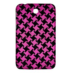 Houndstooth2 Black Marble & Pink Brushed Metal Samsung Galaxy Tab 3 (7 ) P3200 Hardshell Case
