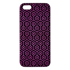Hexagon1 Black Marble & Pink Brushed Metal (r) Iphone 5s/ Se Premium Hardshell Case