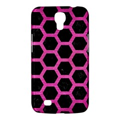 Hexagon2 Black Marble & Pink Brushed Metal (r) Samsung Galaxy Mega 6 3  I9200 Hardshell Case