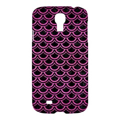 Scales2 Black Marble & Pink Brushed Metal (r) Samsung Galaxy S4 I9500/i9505 Hardshell Case