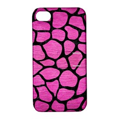 Skin1 Black Marble & Pink Brushed Metal (r) Apple Iphone 4/4s Hardshell Case With Stand