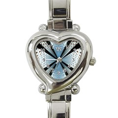 6th Dimension Metal Abstract Obtained Through Mirroring Heart Italian Charm Watch