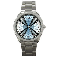6th Dimension Metal Abstract Obtained Through Mirroring Sport Metal Watch