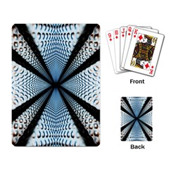 6th Dimension Metal Abstract Obtained Through Mirroring Playing Card