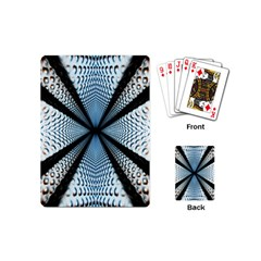 6th Dimension Metal Abstract Obtained Through Mirroring Playing Cards (mini)