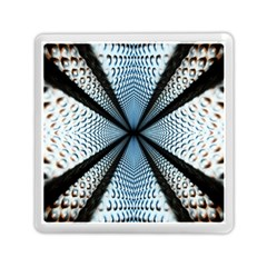 6th Dimension Metal Abstract Obtained Through Mirroring Memory Card Reader (square)