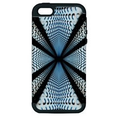 6th Dimension Metal Abstract Obtained Through Mirroring Apple Iphone 5 Hardshell Case (pc+silicone)