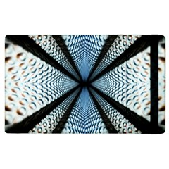 6th Dimension Metal Abstract Obtained Through Mirroring Apple Ipad 2 Flip Case