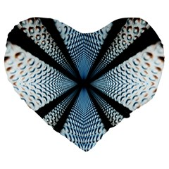 6th Dimension Metal Abstract Obtained Through Mirroring Large 19  Premium Heart Shape Cushions