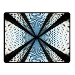 6th Dimension Metal Abstract Obtained Through Mirroring Double Sided Fleece Blanket (small)