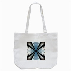6th Dimension Metal Abstract Obtained Through Mirroring Tote Bag (white)