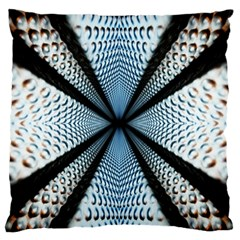 6th Dimension Metal Abstract Obtained Through Mirroring Large Flano Cushion Case (two Sides)