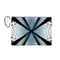6th Dimension Metal Abstract Obtained Through Mirroring Canvas Cosmetic Bag (m)